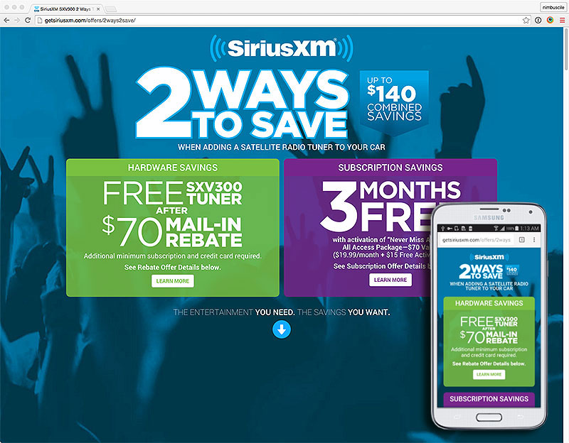 SiriusXM Offers 2 Ways to Save